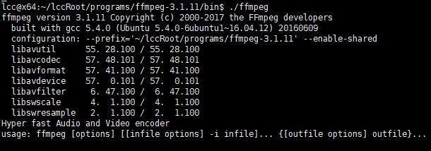 正常执行ffmpeg命令